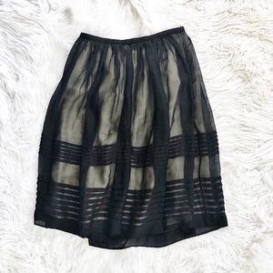 J. Crew silk midi skirt